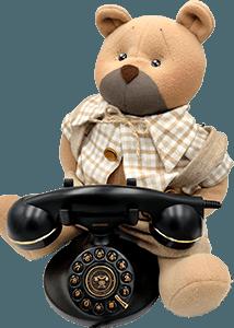 Orso camillo al telefono
